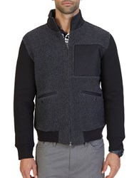Nautica Active Fit Sherpa Track Jacket True Black