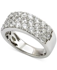 Marchesa Diamond Three Row Band 2 Ct. T.W. In 18K White Gold