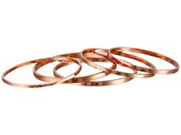 French Connection Ultra Thin Band Midi Ring Set Rose Gold Ring