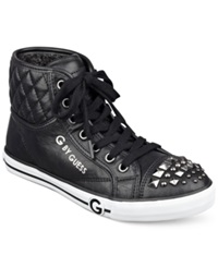 G By Guess Women's Oana Studded High Top Sneakers Women's Shoes Black