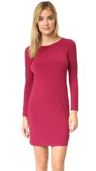Velvet Hester Dress Burgundy