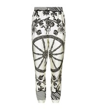 Dolce And Gabbana Wheel Print Pyjama Bottoms Male Grey