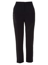 Christopher Kane Stud Embellished Crepe Trousers Black