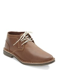 Kenneth Cole Reaction Desert Leather Chukka Boots Brown