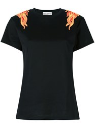 Paco Rabanne Flame Patch T Shirt Black