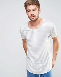 Esprit Stripe Scoop Neck T Shirt Off White