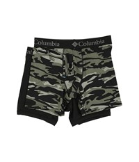 Columbia Performance Stretch Boxer Briefs 2 Pack Camo 1 Beetle Men's Underwear Multi