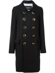 Dsquared2 Double Breasted Coat Black
