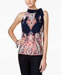 Inc International Concepts Printed Tie Neck Halter Top Only At Macy's Castle Garden