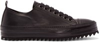 Ann Demeulemeester Black Leather Low Top Sneakers