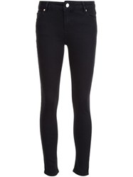 Anine Bing High Waisted Cropped Jeans Black