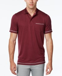 Tasso Elba Men's Performance Uv Protection Polo Classic Fit Port