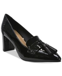 Tahari Tami Pointed Toe Loafer Pumps Women's Shoes Black