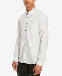 Kenneth Cole Reaction Men's Slim Fit Textured Long Sleeve Shirt White Combo