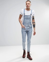 Dr. Denim Dr Denim Ira Skinny Dungaree Jeans In Blue Stone Light Wash Blue Stone