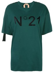 N 21 No21 Logo Print T Shirt Green