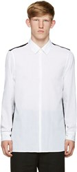 Ann Demeulemeester Black And White Colorblocked Shirt