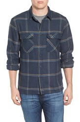 Brixton Men's 'Archie' Plaid Flannel Shirt Navy