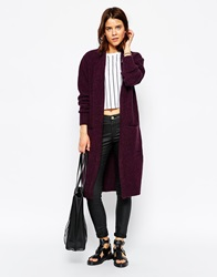 Minimum Maxi Cardigan With Front Pockets 496Blackberrywine
