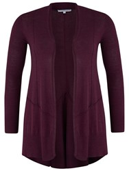 Chesca Seamed Detail Cardigan Plum