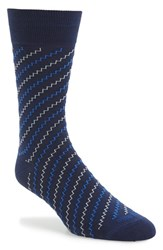 Men's Etiquette Clothiers 'Step It Up' Socks Blue Navy