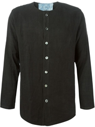 By Walid Collarless Shirt Black