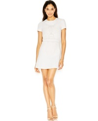 French Connection A Line Cutout Mini Dress Summer White