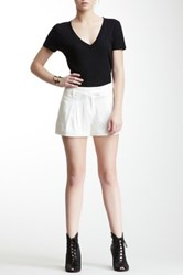L.A.M.B. Pleated Silk Short White