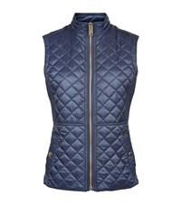 Burberry Tindale Diamond Quilted Gilet Female Blue