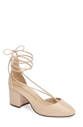 Athena Alexander Women's Caprice Strappy D'orsay Pump Nude Faux Patent