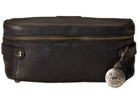 Will Leather Goods Desmond Travel Kit All Leather Black Travel Pouch