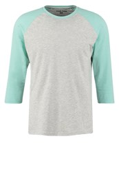 Your Turn Long Sleeved Top Mottled Light Grey Mint