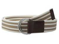 Cole Haan 38Mm D Ring Webbing Pinch Belt Maple Sugar White Women's Belts Brown