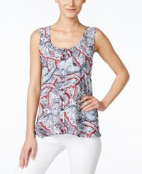 Styleandco. Style And Co. Paisley Printed Tank Blouse Only At Macy's Pax Paisley