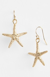 Ki Ele Large Starfish Drop Earrings Gold