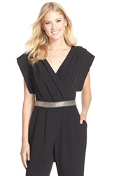 Eliza J Beaded Jumpsuit Black