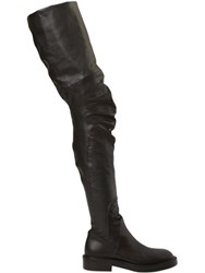 Strategia 30Mm Faux Leather And Leather Boots