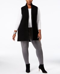 Charter Club Plus Size Cashmere Vest Only At Macy's Classic Black