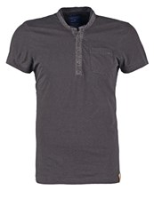 Tom Tailor Fitted Print Tshirt Tarmac Grey Anthracite