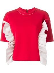 Marni Ruffle Sweatshirt Red