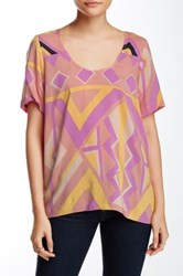 Plenty By Tracy Reese Back Tie Tee Pink