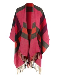 Jane Norman Bright Red Check Wrap Scarf