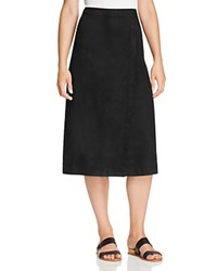 Eileen Fisher Faux Wrap Midi Skirt Black