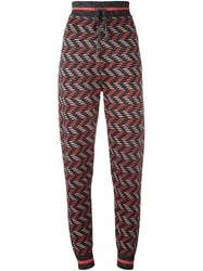 M Missoni Zig Zag Knit Trousers Black