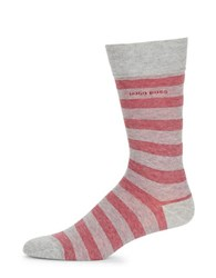 Hugo Boss Multi Stripe Crew Socks Silver