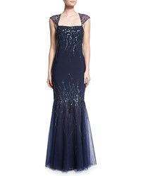 Mignon Embellished Mermaid Gown Midnight Black