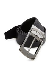 Ermenegildo Zegna Pebbled Leather Reversible Belt Black