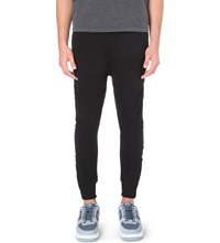 Blood Brother Drop Crotch Cotton Jogging Bottoms Black
