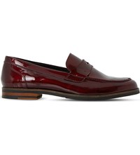Dune Gem Patent Leather Penny Loafers Burgundy Patent