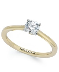 Macy's Idealmark Certified Diamond Solitaire Engagement Ring In 18K Gold 1 2 Ct. T.W.